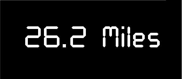 26.2 Miles Black