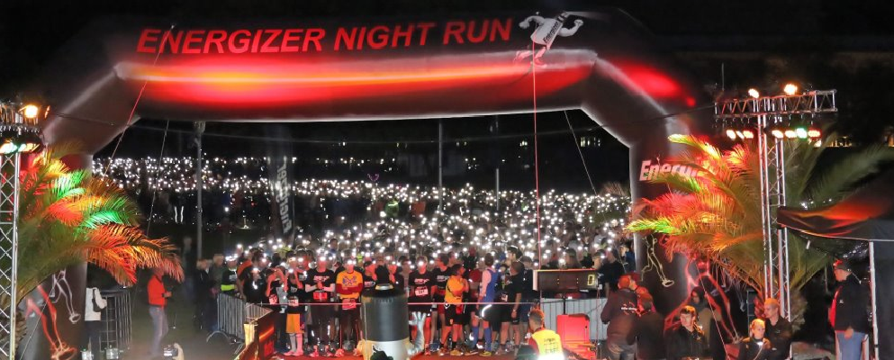 Energiser Night Run Banner