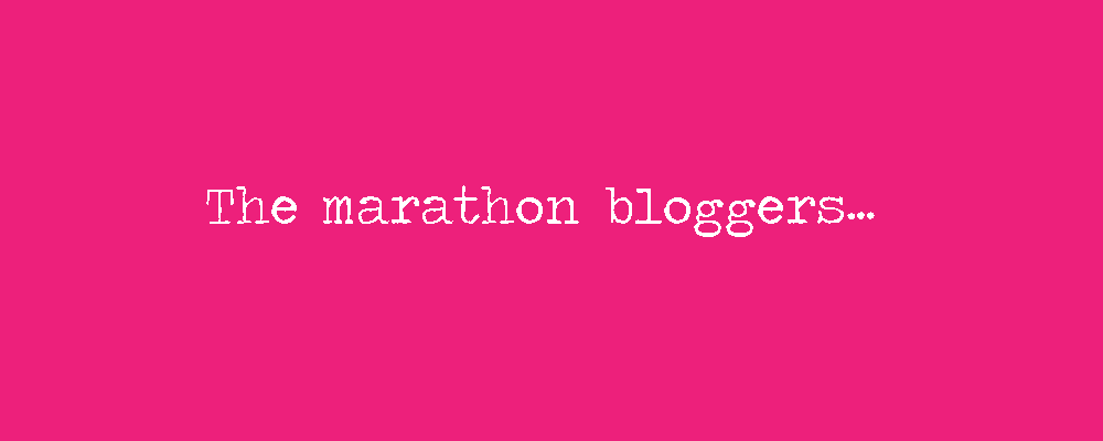 The marathon bloggers banner