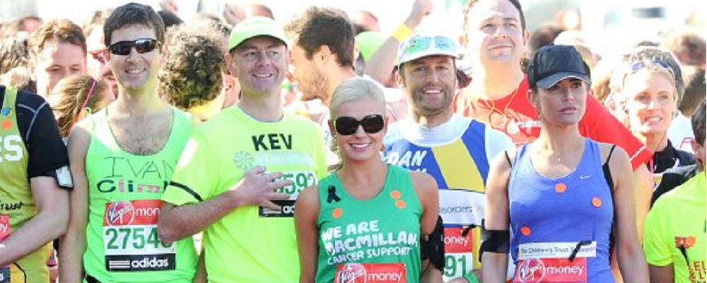 Virgin London Marathon 2013 Celeb Barometer
