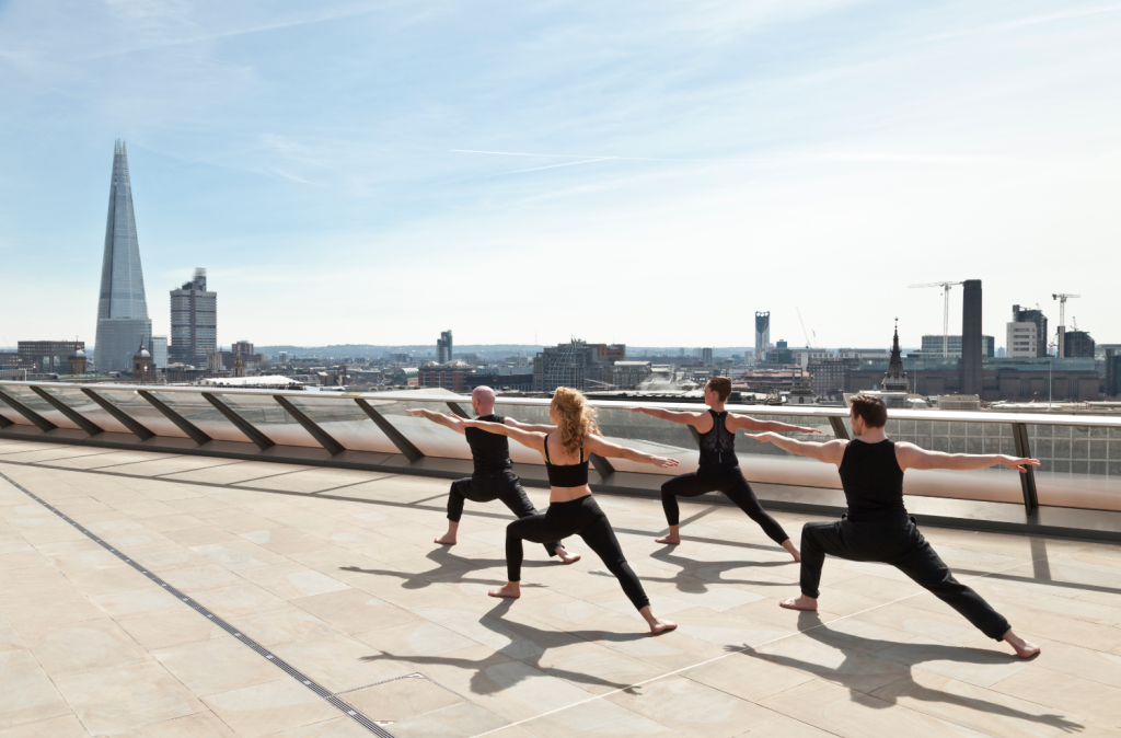 Yoga on the roof of One New Change