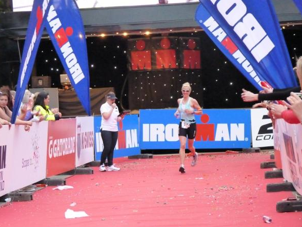 Finishing the ironman and still smiling!