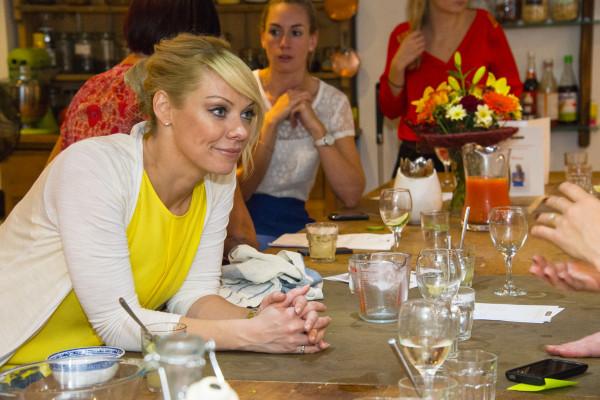 Liz chatting
