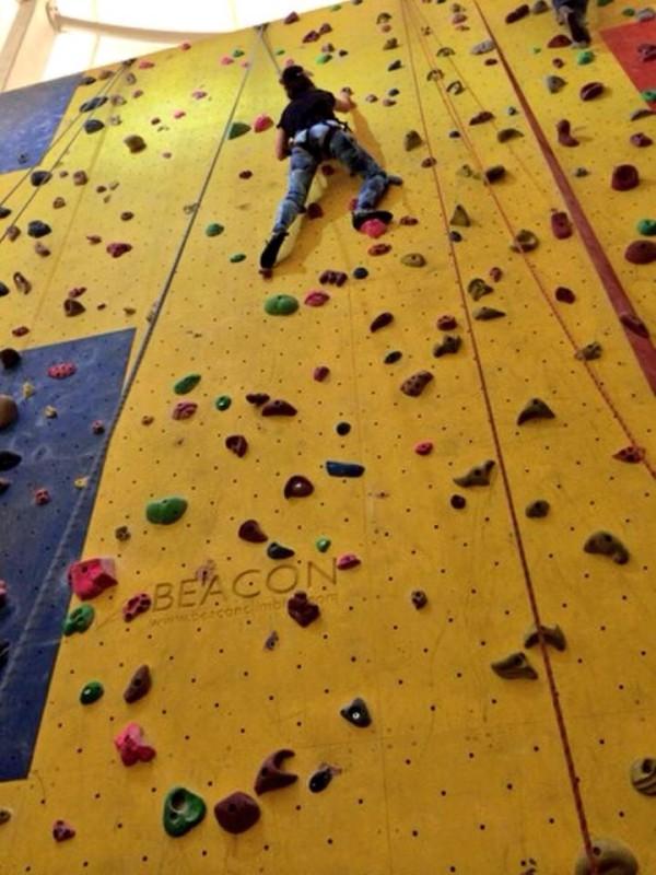 Charlotte climbing