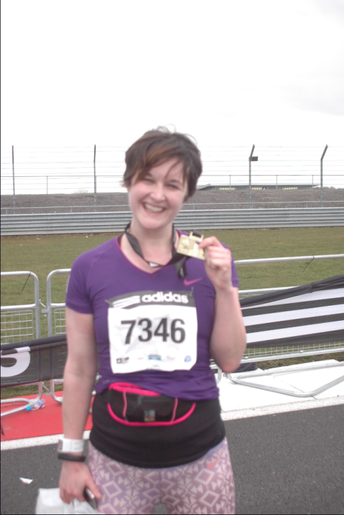Lorna at Silverstone last year