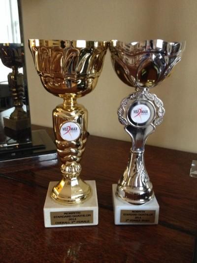 Hannah's trophies