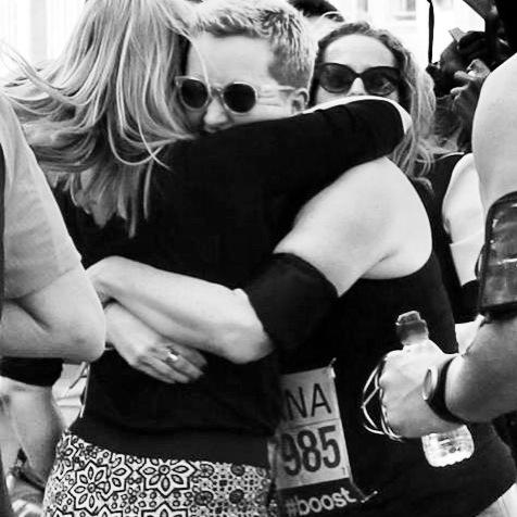 Much needed hug from Hannah