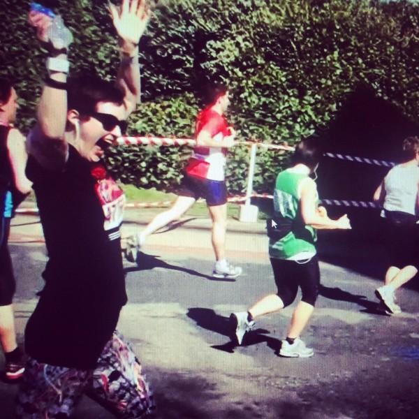 Lorna running marathon