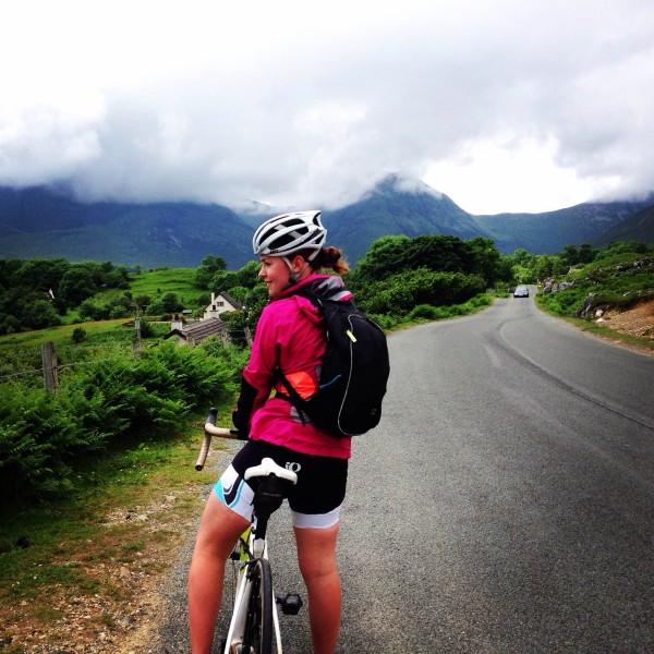 Hannah cycling