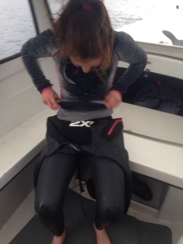 Hannah in wetsuit