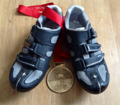 Hard earned medal, magic shoes