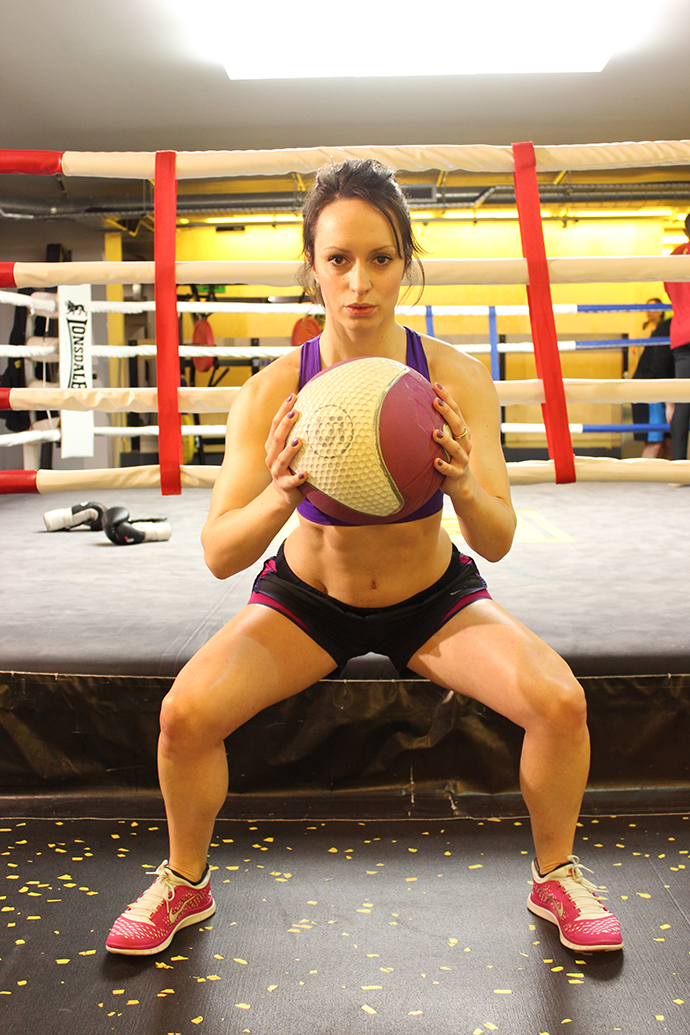 Lunges and Lycra - Medicine Ball Squat