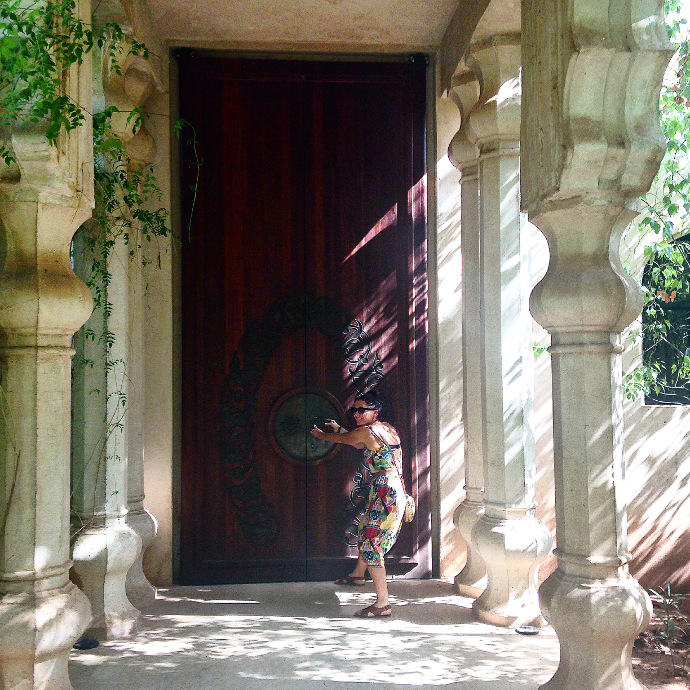 Bit small, the door to our villa