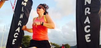 Lucy Fry triathlon
