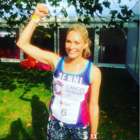 Jenni Falconer half marathon time