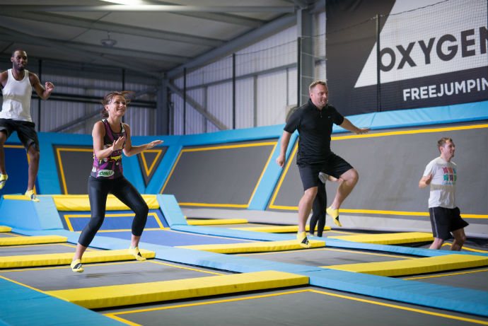 fitness classes at Oxygen Freejumping trampoline park