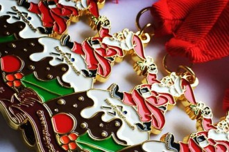 December fitness events runthrough medal