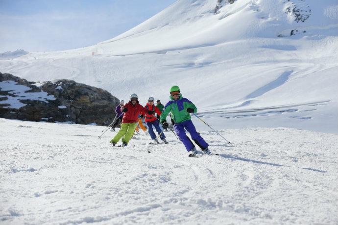 late skiing holiday