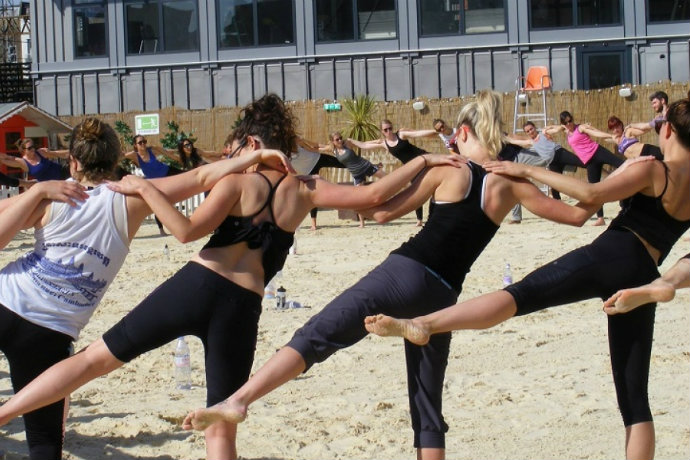 Yoga at Camden beach