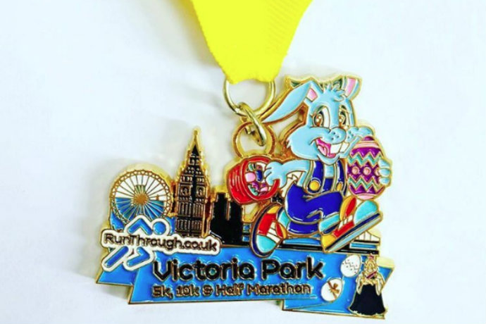 Runthrough easter medal