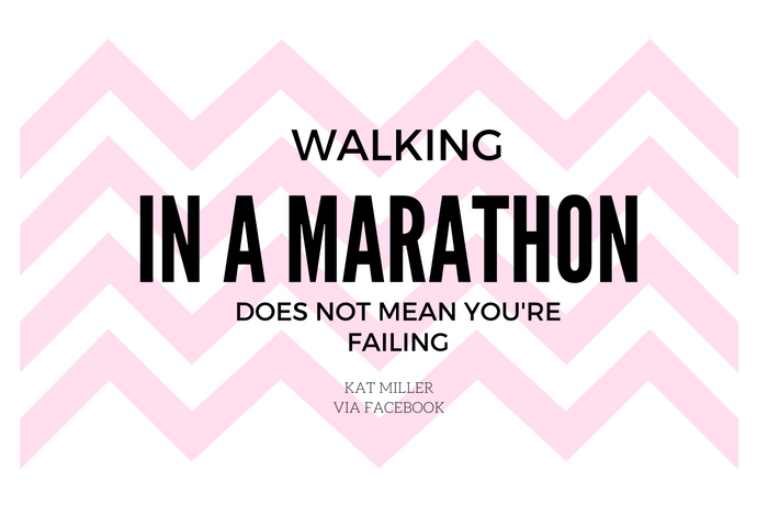 Walking in a marathon