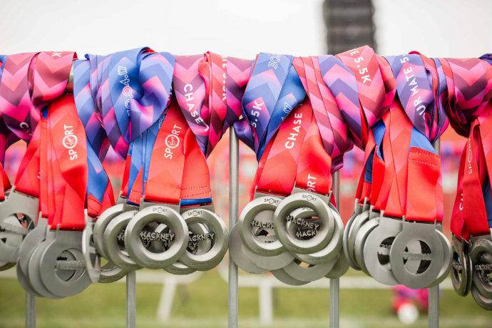 Hackney half medal
