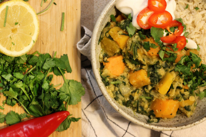 butternut squash dahl recipe