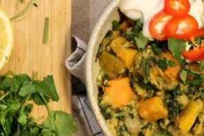 Red Lentil, Butternut Squash<br/> and Spinach Dahl Recipe