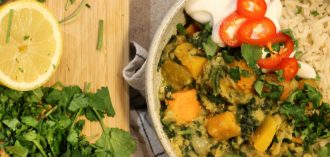 red lentil dahl recipe header