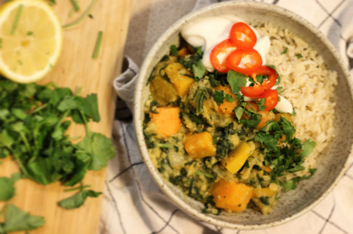 vegan red lentil dahl recipe