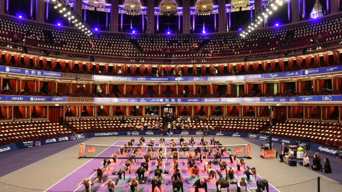 lululemon yoga at royal albert hall