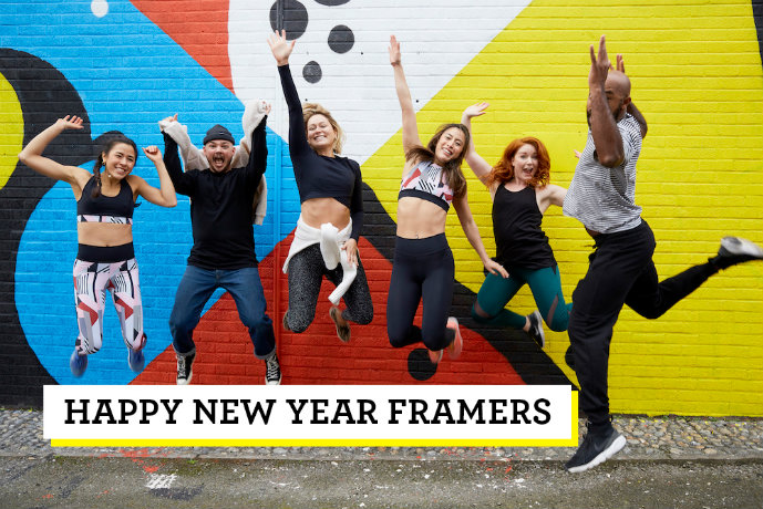 Frame new year