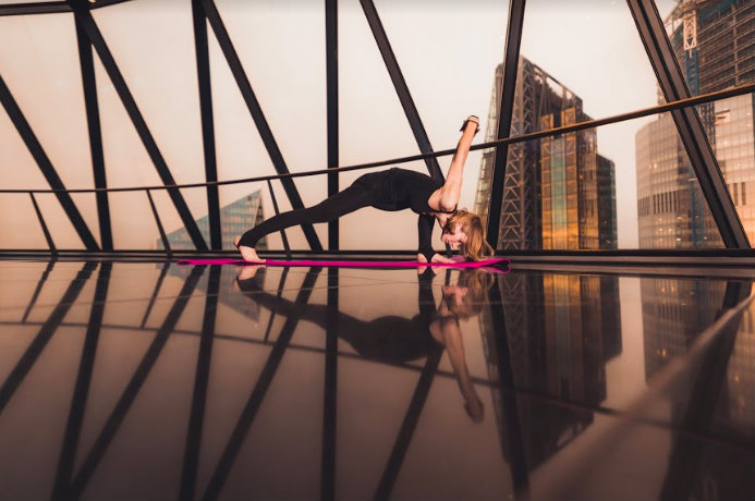Yogasphere at the Gherkin