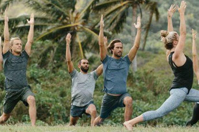 lululemon outdoor yoga class