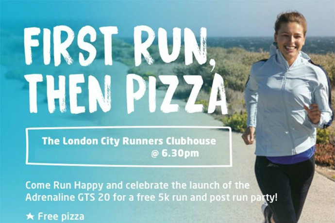 Runners Need and Brooks free pizza party